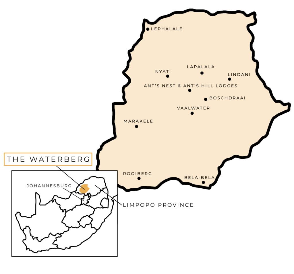 Waterberg Biosphere Map from Waterberg Rhino UK